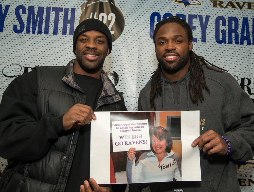 Don't get sick! An unselfish act from a Ravens fan