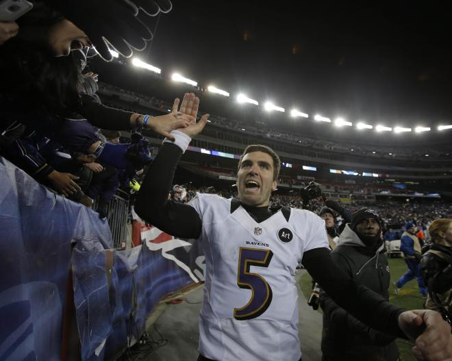 """Joe Flacco played safety in high school, was nicknamed """"The Long Arm of the Law"""""""