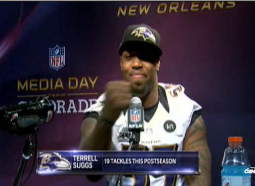 "Terrell Suggs explains ""Flaccoing"""