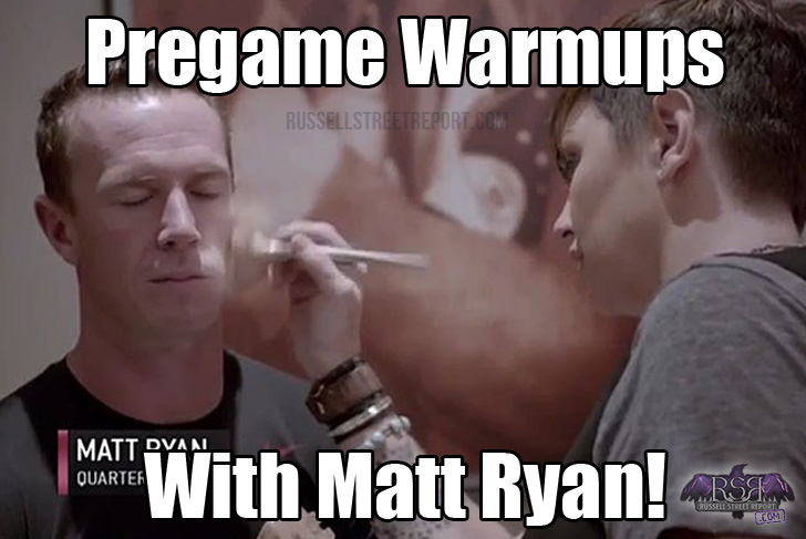 LOOK OVER HERE: Cryin' Matt Ryan on Sunday?