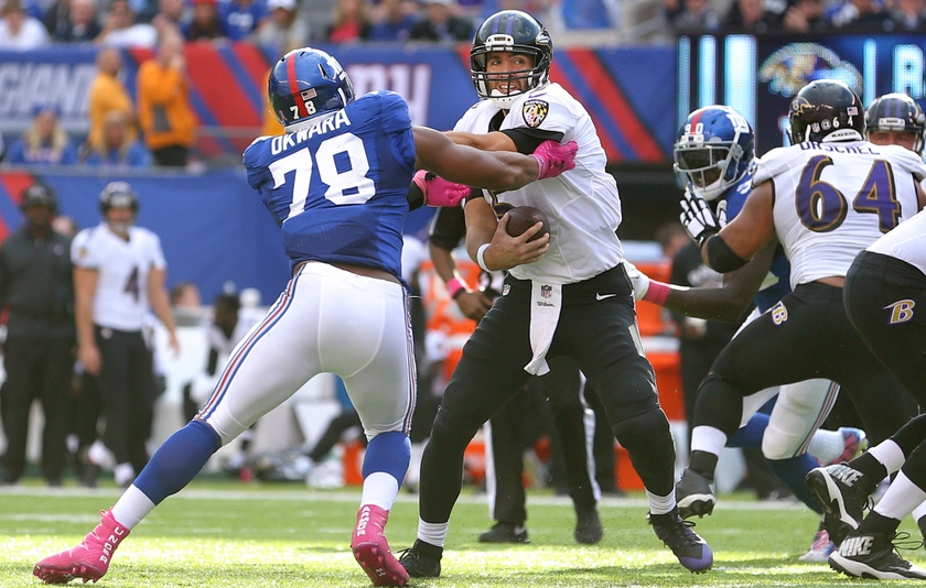 Ravens Fail to Adjust to Giants Pressure
